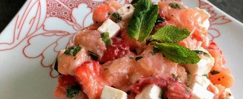 Tartare de saumon aux fraises