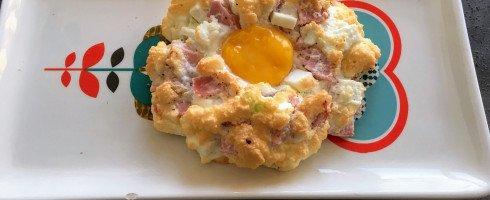 Cloud egg salé