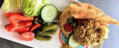 Burger-falafel