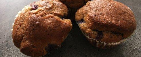 Muffins myrtilles-graines de pavot